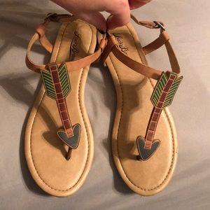 Lucky Brand Arrow Sandals